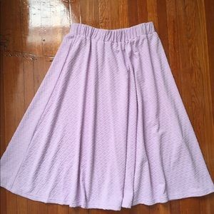 ASOS Purple Knee Length Skater Skirt